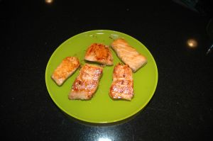 Salmon with Miso Sauce