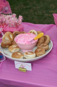 Bagels with Pink Cream Cheese