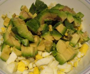 Chopped egg & avocado