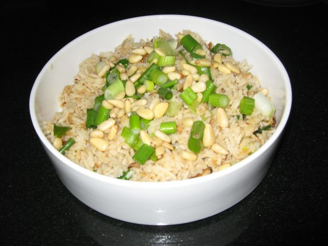 Pilaf with Cilantro And Pine Nuts