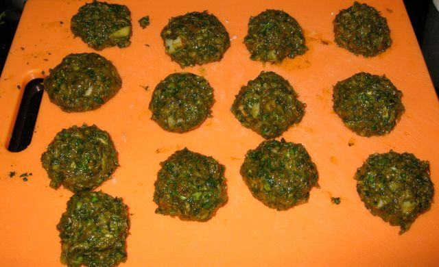 Ground Chicken and Spinach Kababs/Cutlets