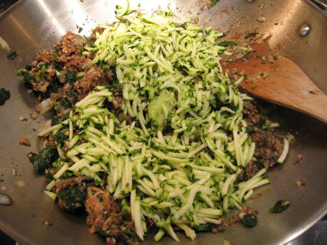 Onion,spinach,mushroom & Zucchini