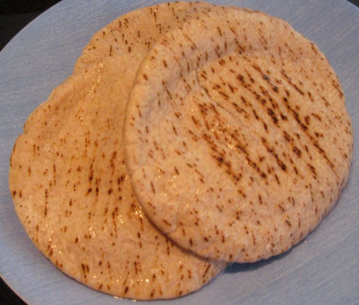 Heat mini pita pockets microwave for a few seconds to make it soft