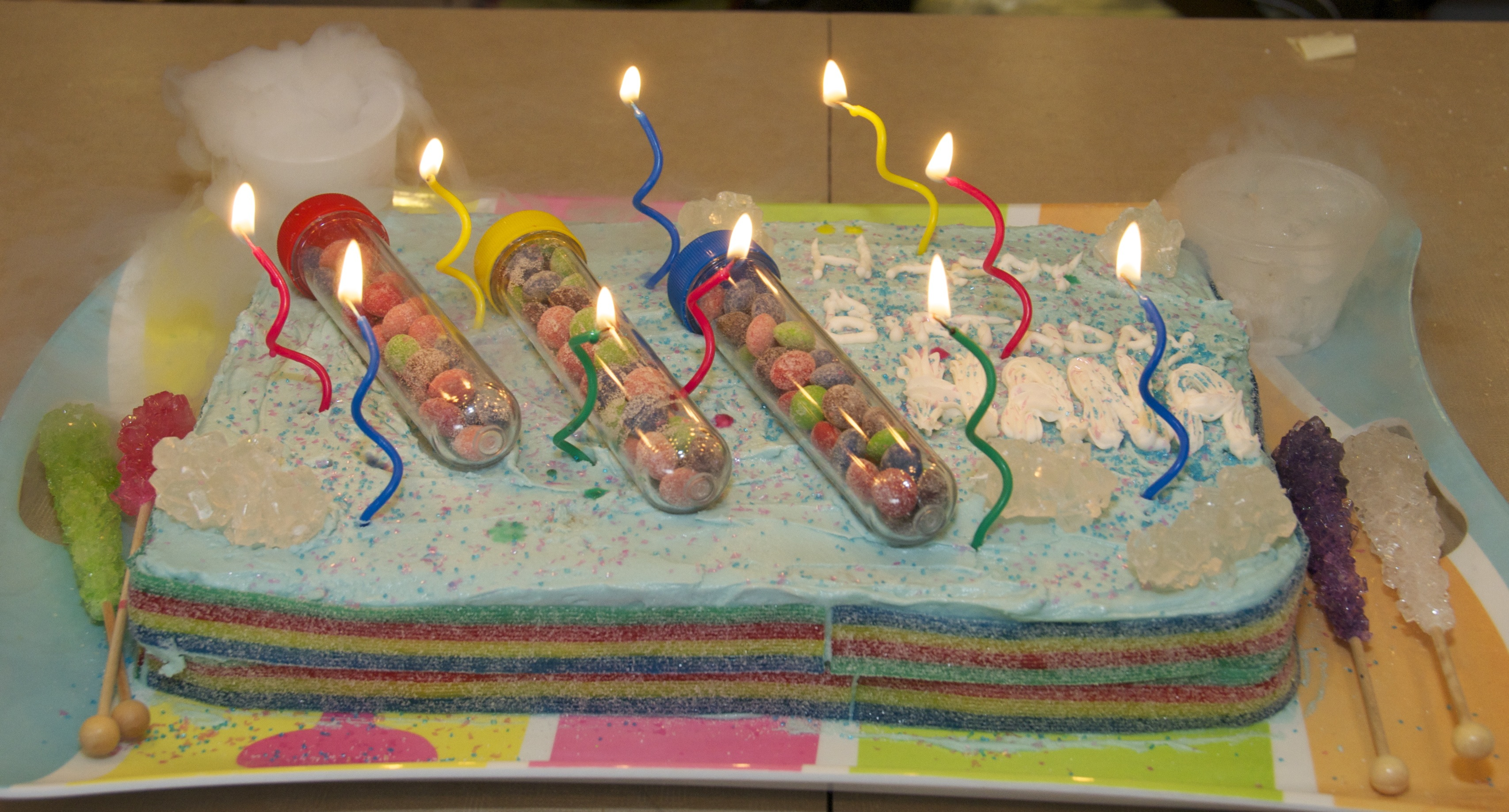science birthday cake