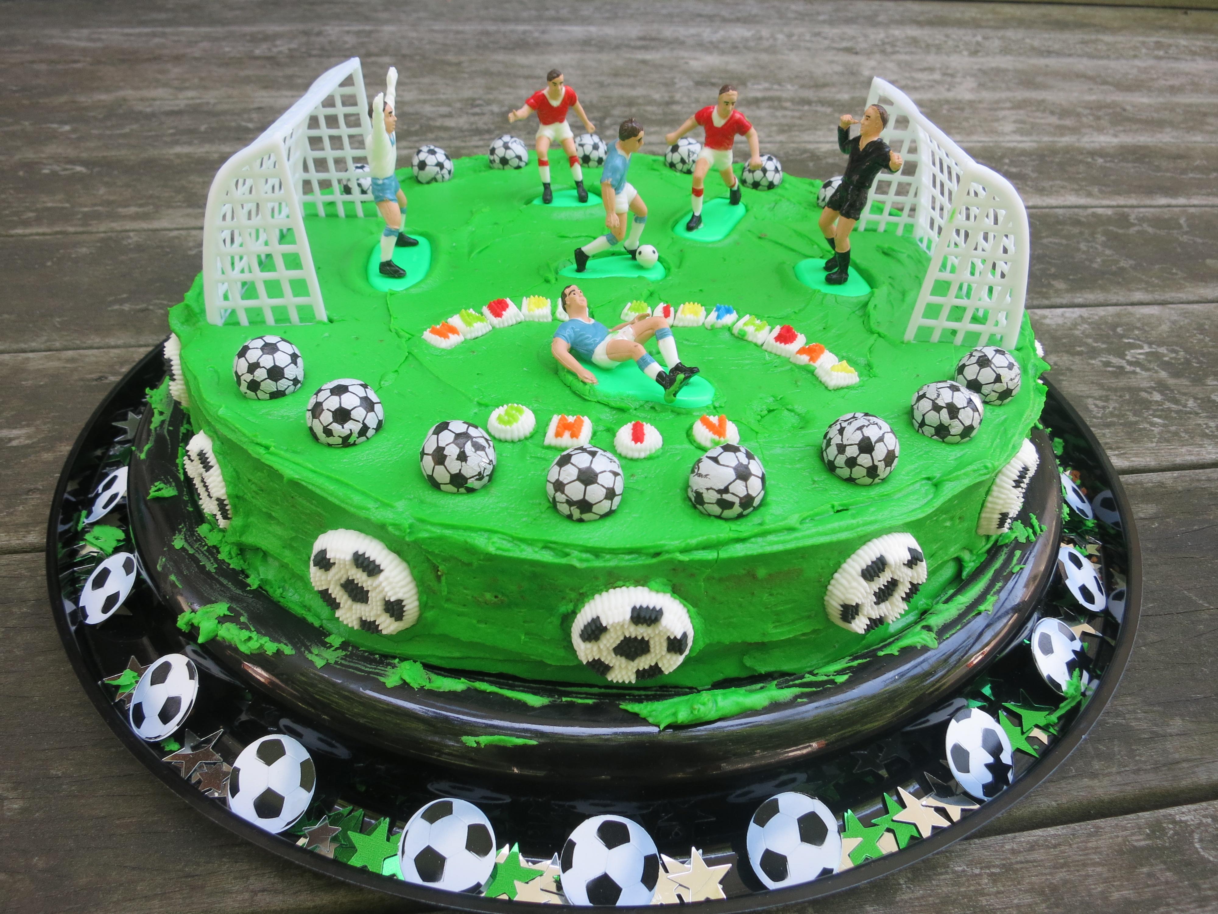 birthday cake soccer
